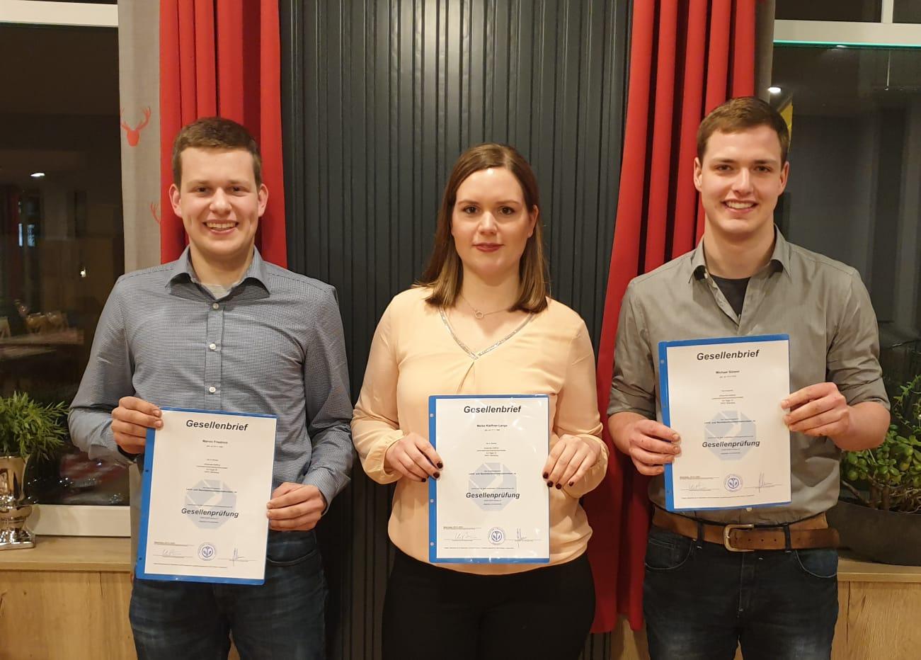 Marwin Friedrich, Meike Kleffner-Lange und Michael Stöwer
